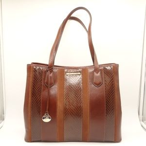 NWT BRAHMIN Medium Julian Tote Pecan Leather Bag